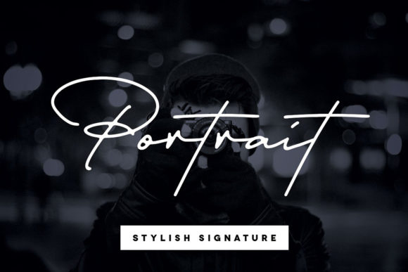 Print on Demand: Portrait Script & Handwritten Font By Hustle Supply Co.