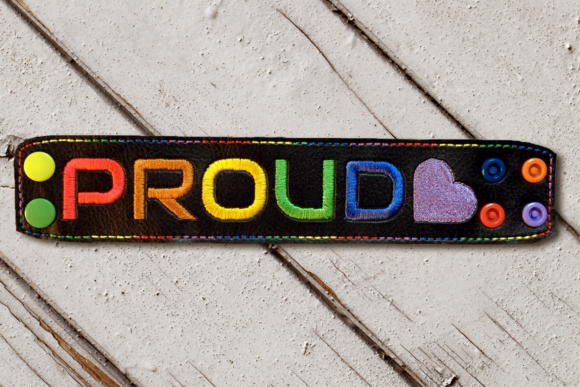 Proud LGBTQIA Embroidery Awareness Embroidery Design By DesignedByGeeks