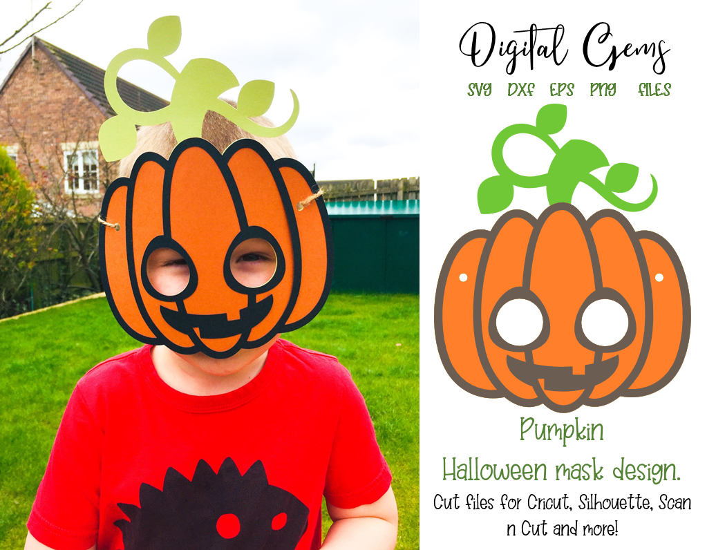 Download Free Pumpkin Mask Design Graphic By Digital Gems Creative Fabrica for Cricut Explore, Silhouette and other cutting machines.