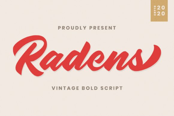 Print on Demand: Radens Script & Handwritten Font By almarkhatype