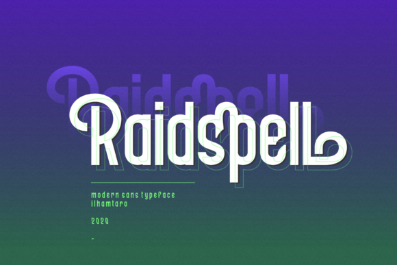 Print on Demand: Raidspell Sans Serif Font By ilhamtaro