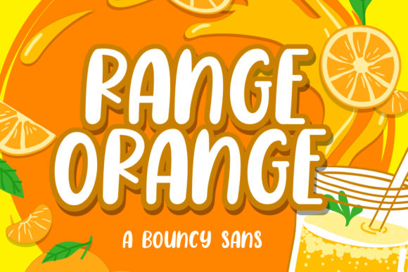 Print on Demand: Range Orange Display Font By Fallengraphic