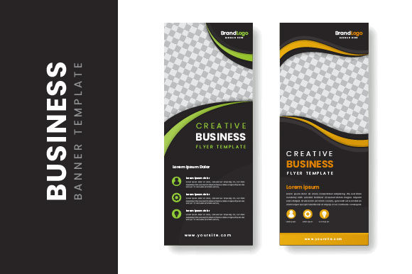 Roll-up Business Banner Stand Design Graphic Print Templates By H12