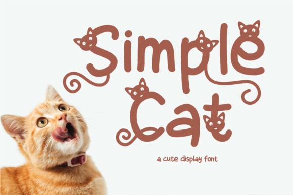 Print on Demand: Simple Cat Display Schriftarten von Girinesia