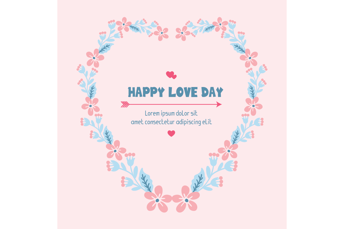 Download Free Simple Happy Love Day Invitation Card Graphic By Stockfloral SVG Cut Files