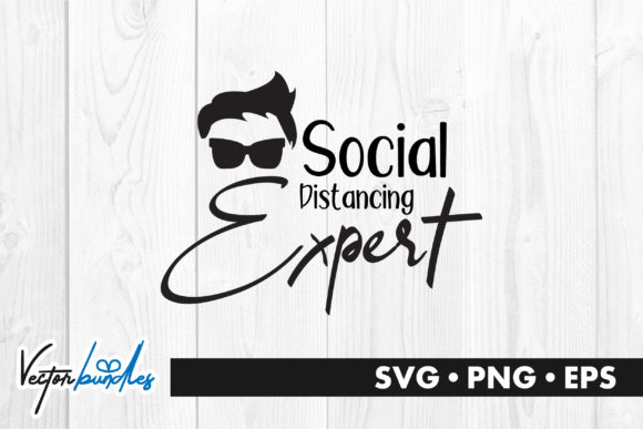 Social Distancing Expert Graphic Crafts By vectorbundles - Image 1