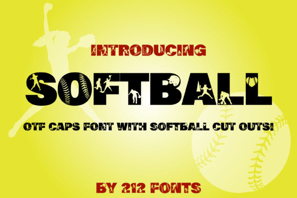 Print on Demand: Softball Display Font By 212 Fonts - Image 1