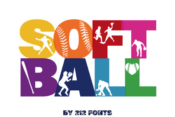 Print on Demand: Softball Display Font By 212 Fonts - Image 2