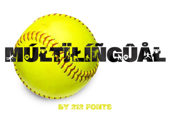 Print on Demand: Softball Display Font By 212 Fonts - Image 3