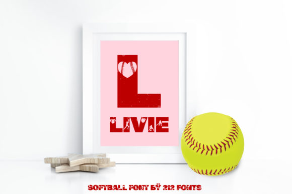 Print on Demand: Softball Display Font By 212 Fonts - Image 4