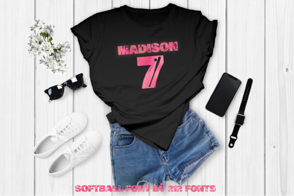 Print on Demand: Softball Display Font By 212 Fonts - Image 6