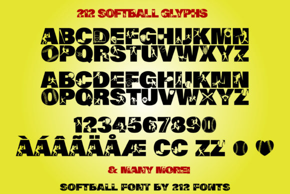 Print on Demand: Softball Display Font By 212 Fonts - Image 7