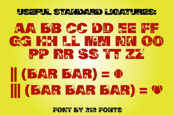 Print on Demand: Softball Display Font By 212 Fonts - Image 8
