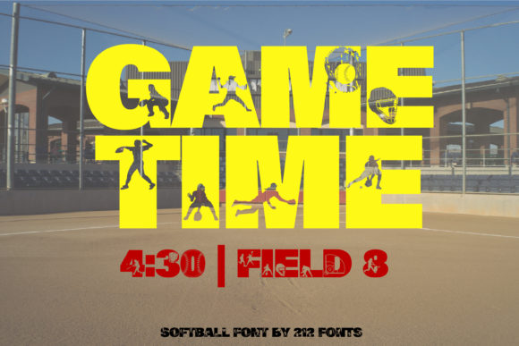 Print on Demand: Softball Display Font By 212 Fonts - Image 9