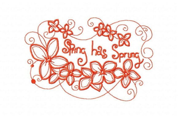 Spring Has Sprung Spring Embroidery Design By Sue O'Very Designs
