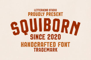 Print on Demand: Squiborn Display Font By letterhend