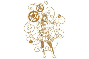 Steampunk Diva Clothing Embroidery Design By Sookie Sews