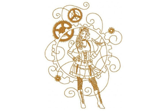 Steampunk Diva Clothing Embroidery Design By Sue O'Very Designs