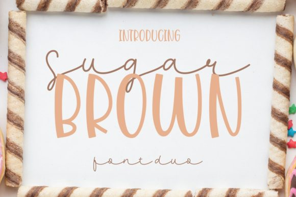 Print on Demand: Sugar Brown Display Fuente Por Dani (7NTypes)