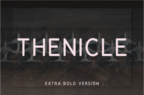 Print on Demand: Thenicle Extra Bold Sans Serif Font By Nan Design