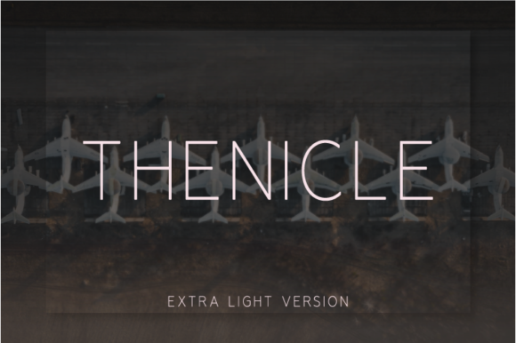 Print on Demand: Thenicle Extra Light Sans Serif Font By Nan Design