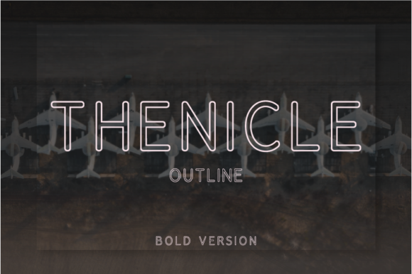 Print on Demand: Thenicle Outline Bold Sans Serif Font By Nan Design