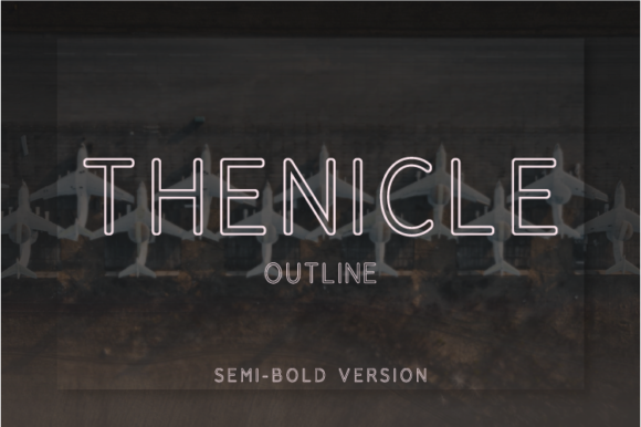 Print on Demand: Thenicle Outline Semi-Bold Sans Serif Font By Nan Design