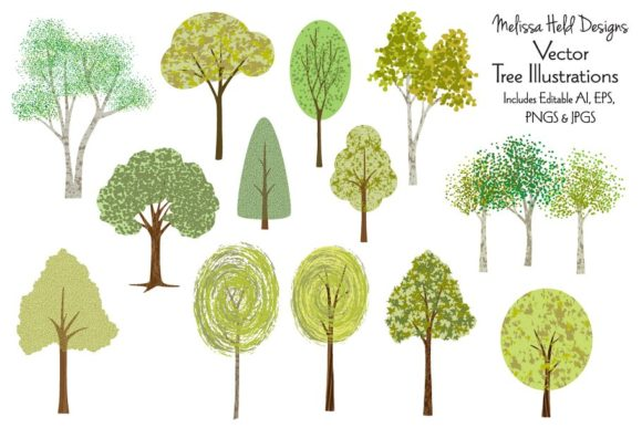 Vector Tree Ilustrations Graphic Illustrations By Melissa Held Designs