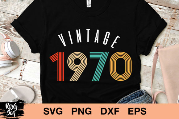Print on Demand: Vintage 1970, 50th Birthday  Graphic Crafts By roxysvg26
