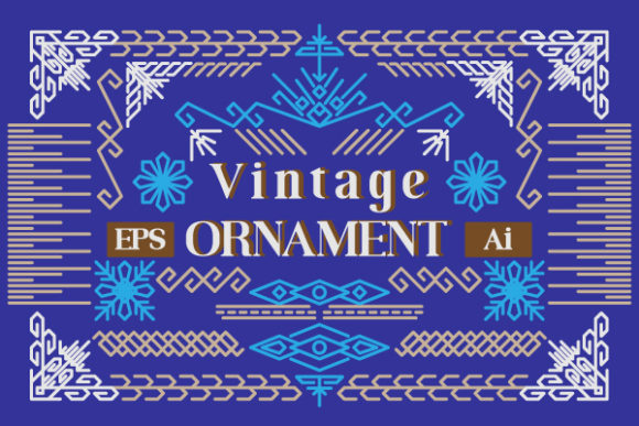 Print on Demand: Vintage Ornament Graphic Illustrations By greentypestudio6789