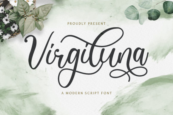 Print on Demand: Virgiluna Script & Handwritten Font By StringLabs