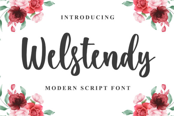Print on Demand: Welstendy Script & Handwritten Font By Blankids Studio