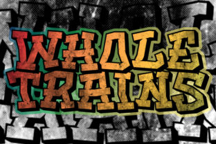 Print on Demand: Whole Trains Blackletter Font By qkila 2