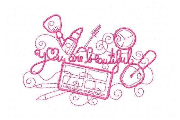 You Are Beautiful Beauty Embroidery Design By Sue O'Very Designs