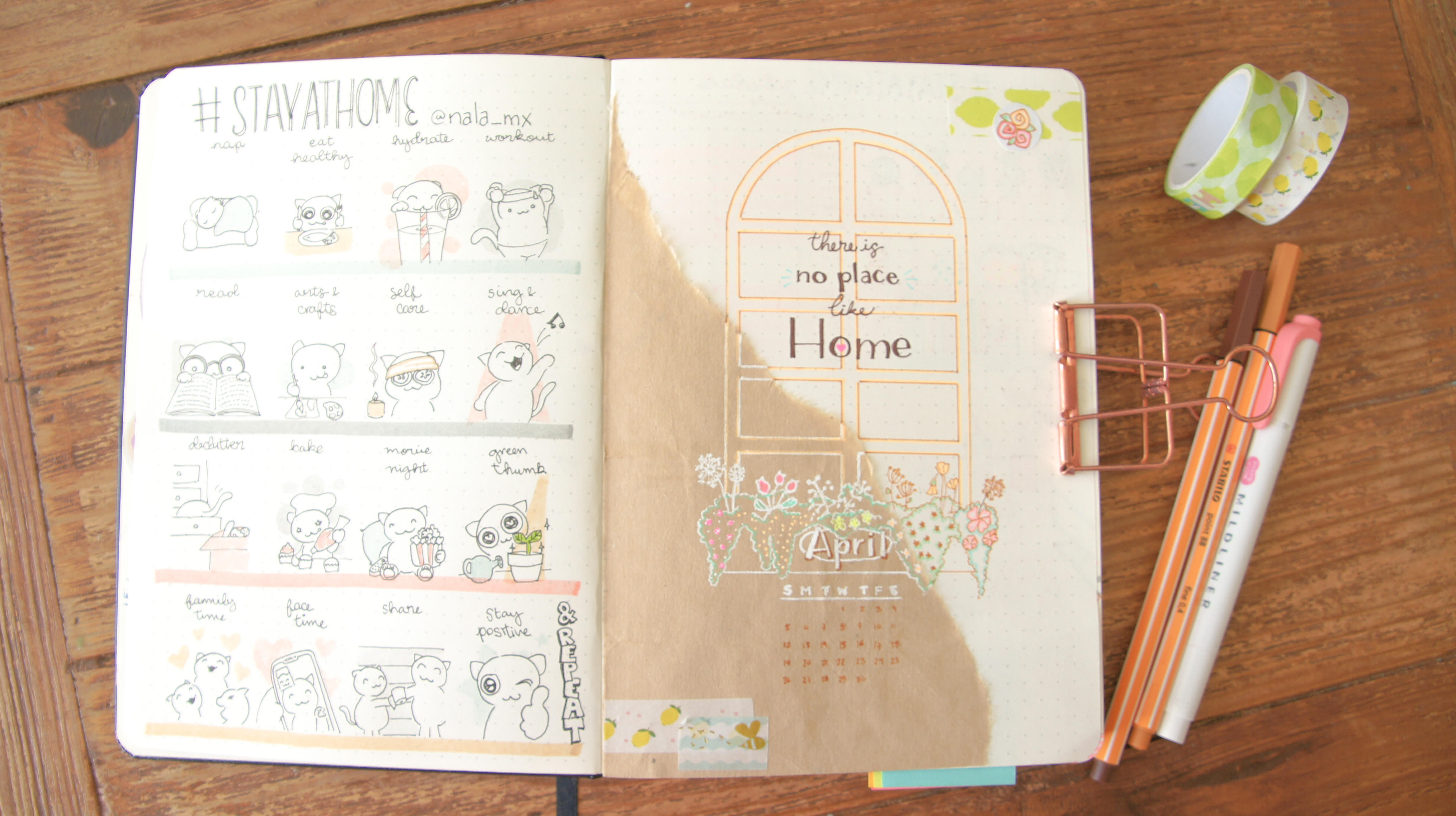 Download Free Bullet Journal Inspiration April 2020 Creative Fabrica for Cricut Explore, Silhouette and other cutting machines.