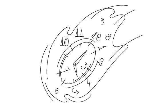 Abstract Clock Svg Cut File By Creative Fabrica Crafts Creative Fabrica