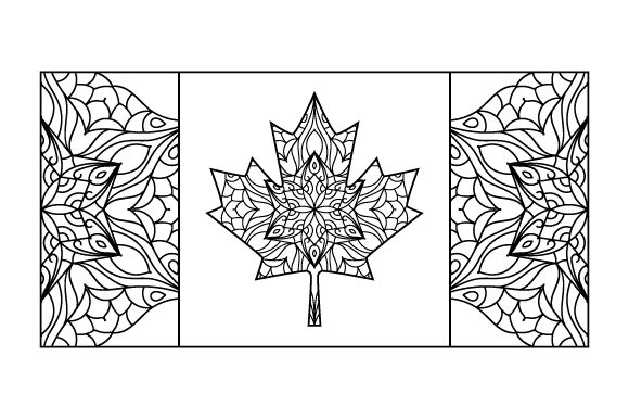 Download Free Canadian Flag Mandala Svg Cut File By Creative Fabrica Crafts for Cricut Explore, Silhouette and other cutting machines.