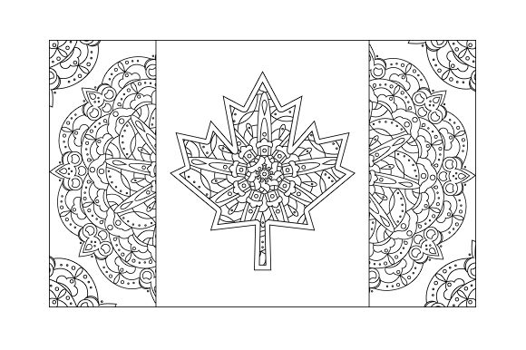 Download Free Canadian Flag Mandala Svg Cut File By Creative Fabrica Crafts SVG Cut Files