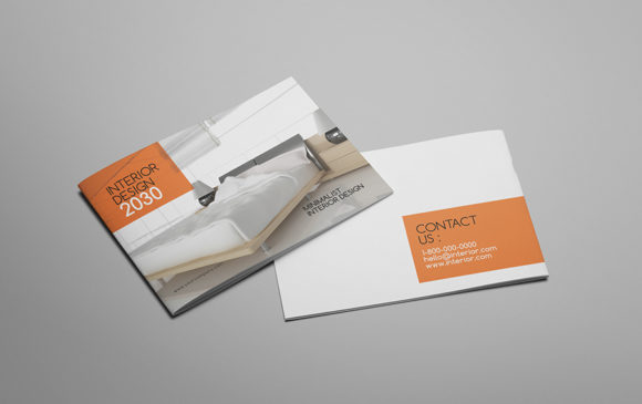Print on Demand: A5 Interior Design Brochure Catalog Graphic Print Templates By Giant Design