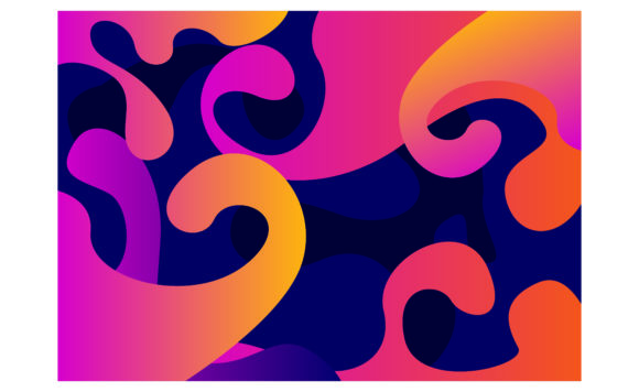 Print on Demand: Abstract Colorful Flow Shapes Background Graphic Backgrounds By Arief Sapta Adjie