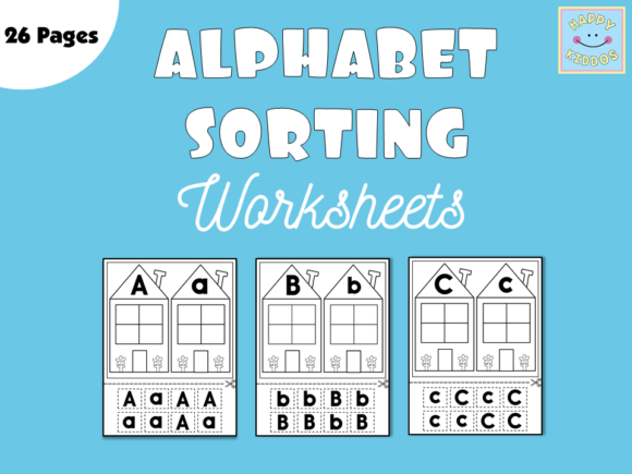 Alphabet Sorting Worksheets for Pre-K Graphic PreK By Happy Kiddos