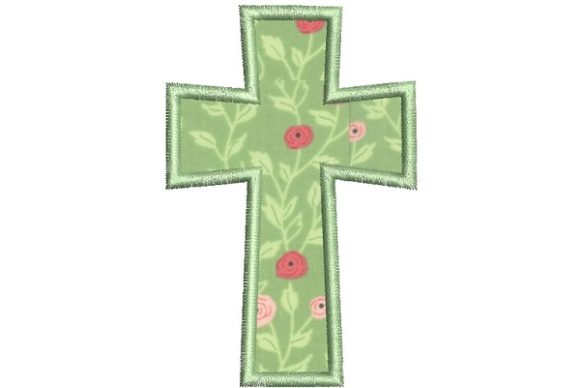 Applique Cross Easter Embroidery Design By Thread Treasures Embroidery - Image 1