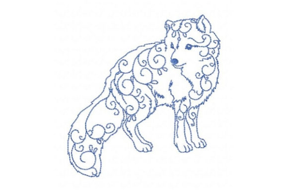 Arctic Fox Wild Animals Embroidery Design By Sookie Sews