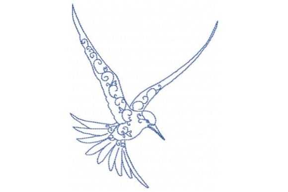 Arctic Hummingbird Birds Embroidery Design By Sue O'Very Designs