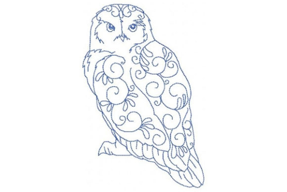 Arctic Snow Owl Embroidery