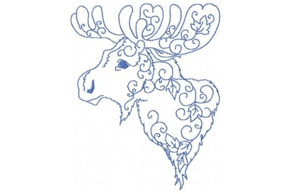 Arctic Moose Wild Animals Embroidery Design By Sookie Sews