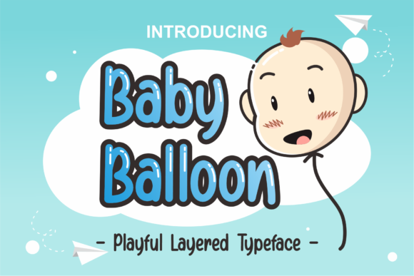 Print on Demand: Baby Balloon Display Font By DUMADI - Image 1