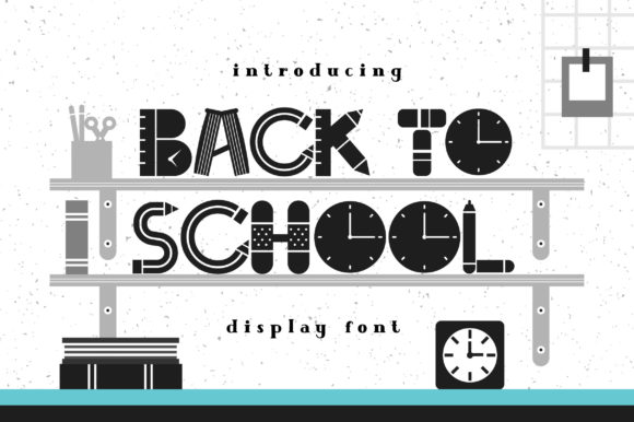Print on Demand: Back to School Display Fuente Por Caoca Studios