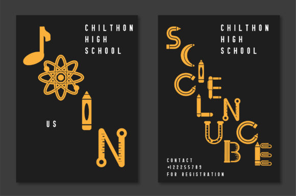 Print on Demand: Back to School Display Font By Caoca Studios - Image 4
