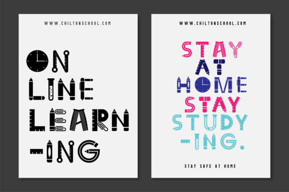 Print on Demand: Back to School Display Font By Caoca Studios - Image 5